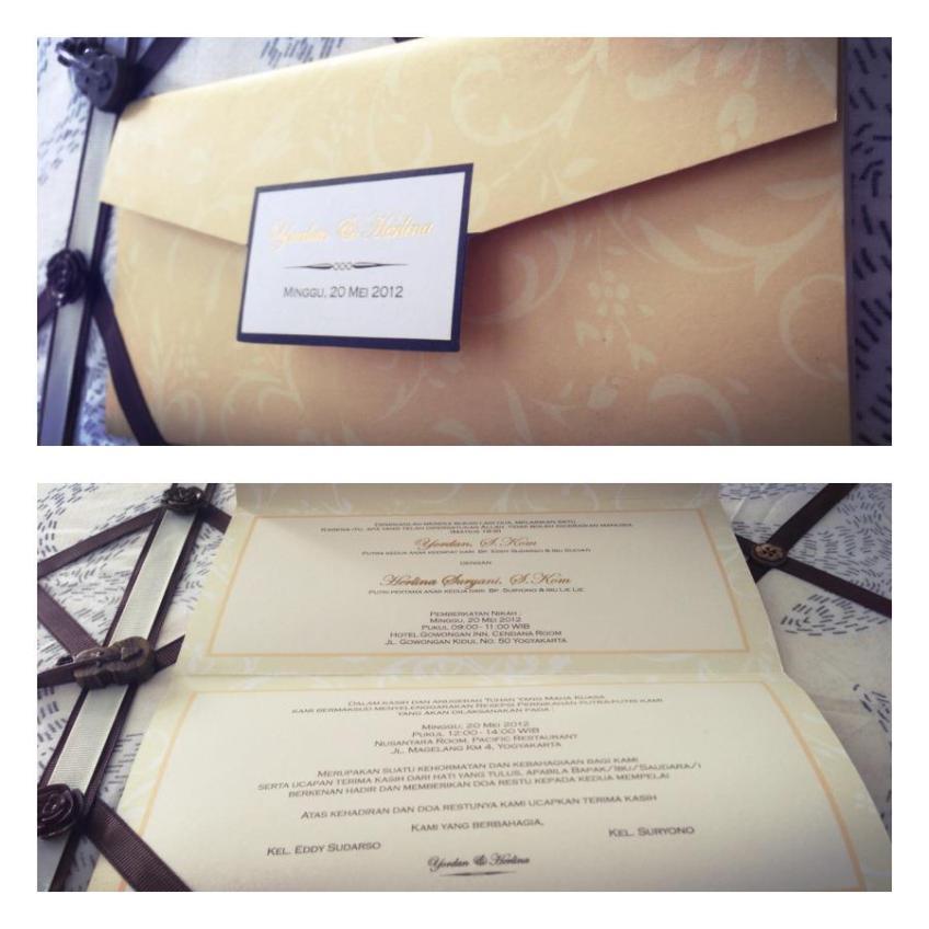 Undangan Kuning Elegan (K01), Lipat 2, Kertas Ivory